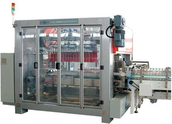 Carbonated / Pure Water Bottle Packing Machine With Rocker Arm Institution