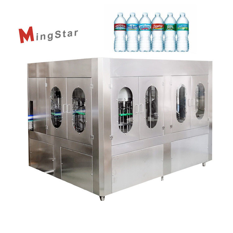 SUS304 High Efficient Pure Mineral Water Filling Machine With Plastic Screw Cap